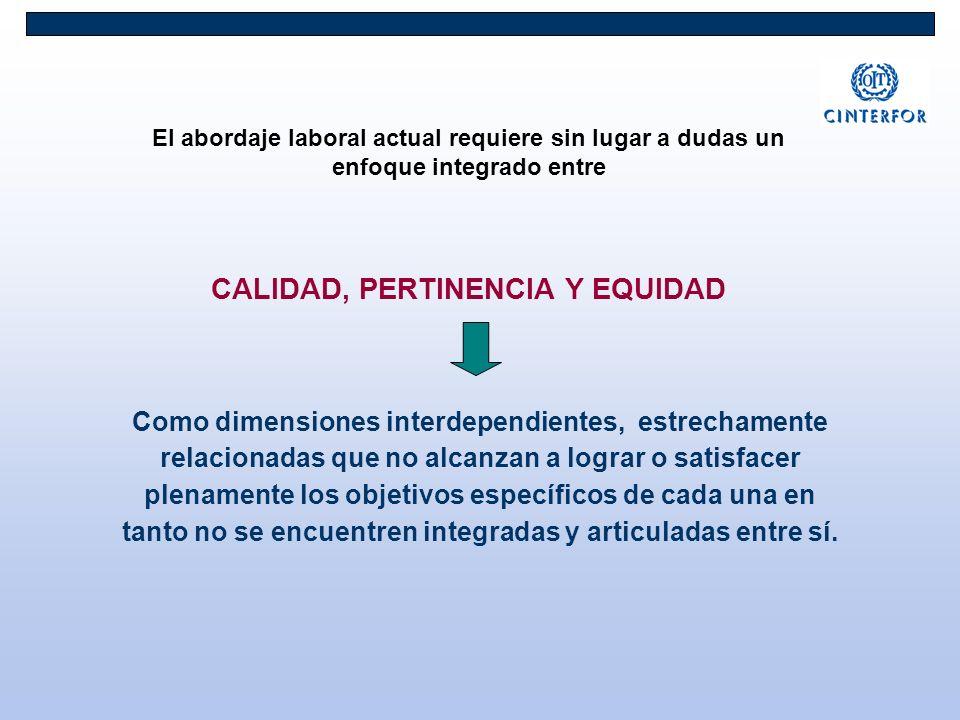 CALIDAD, PERTINENCIA Y EQUIDAD