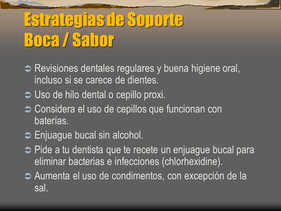 Estrategias de Soporte Boca / Sabor