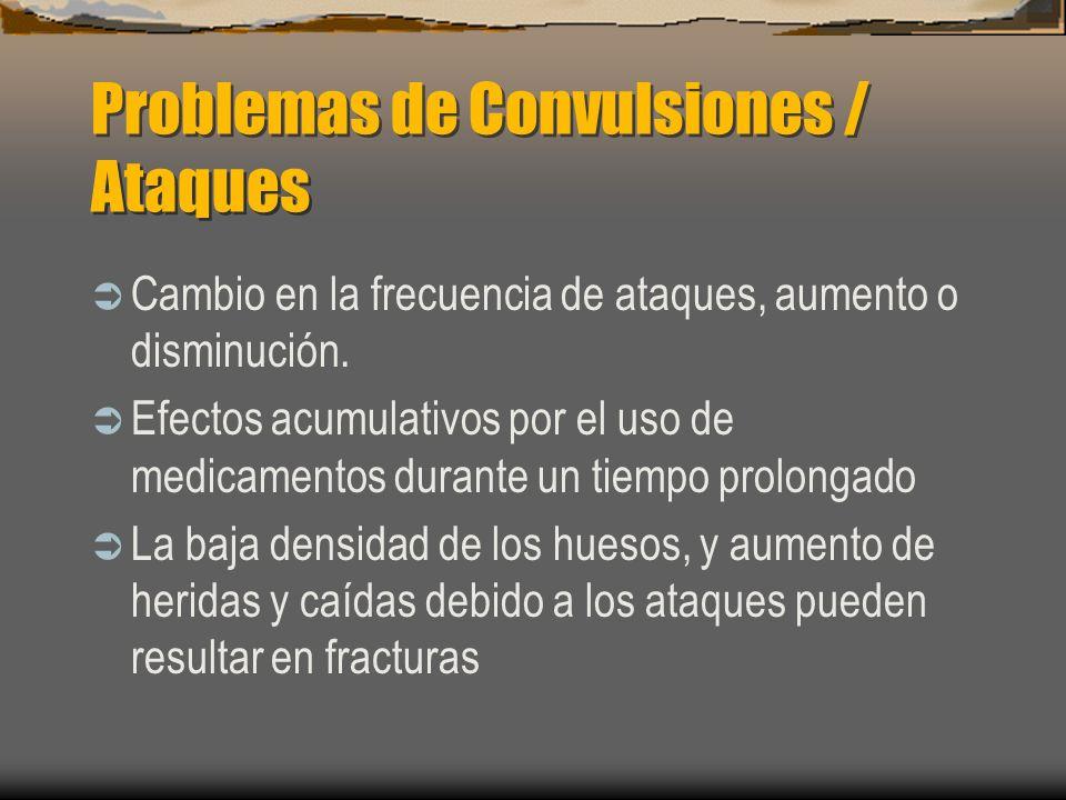 Problemas de Convulsiones / Ataques