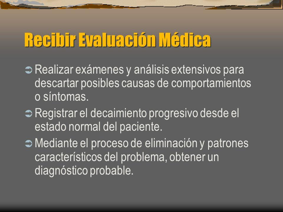Recibir Evaluación Médica