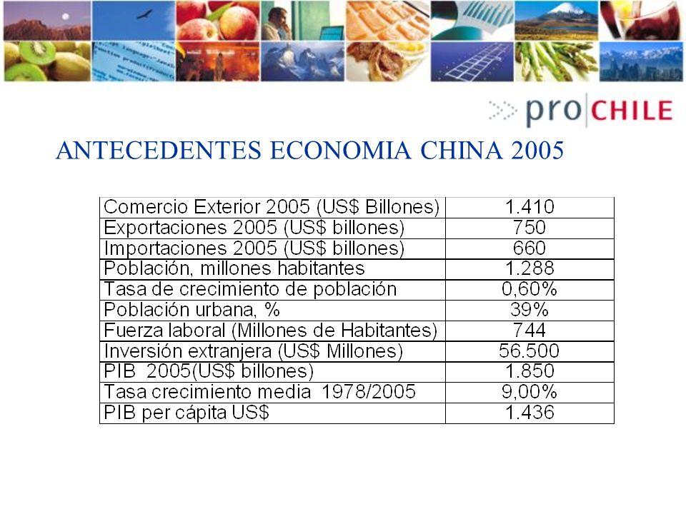 ANTECEDENTES ECONOMIA CHINA 2005