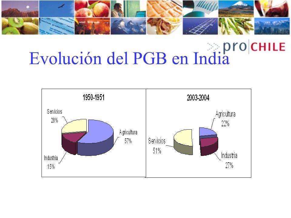 Evolución del PGB en India