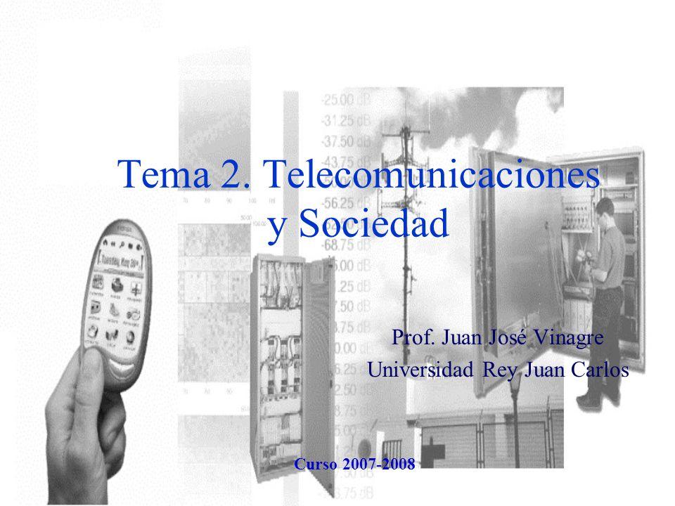 Tema 2. Telecomunicaciones y Sociedad