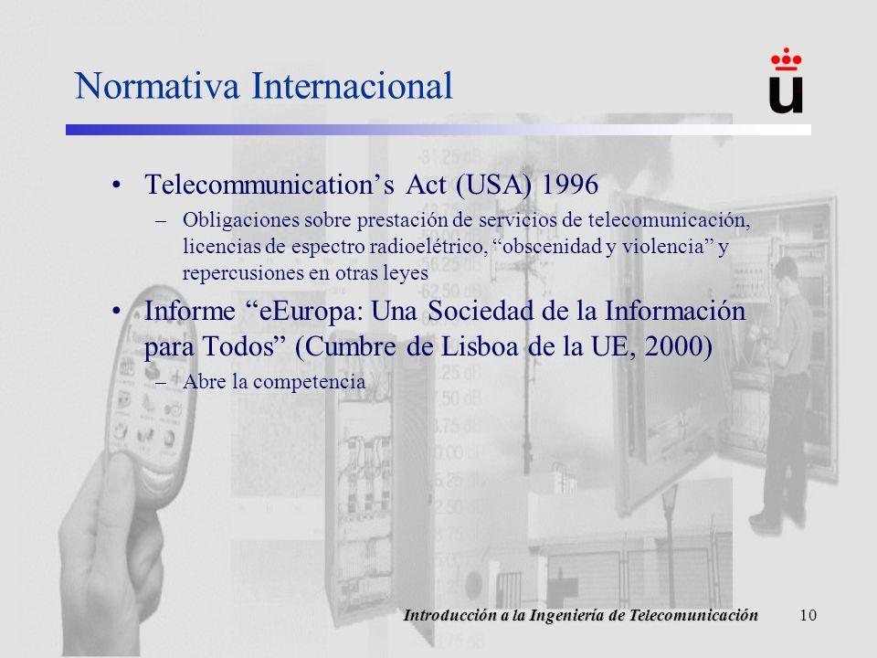 Normativa Internacional