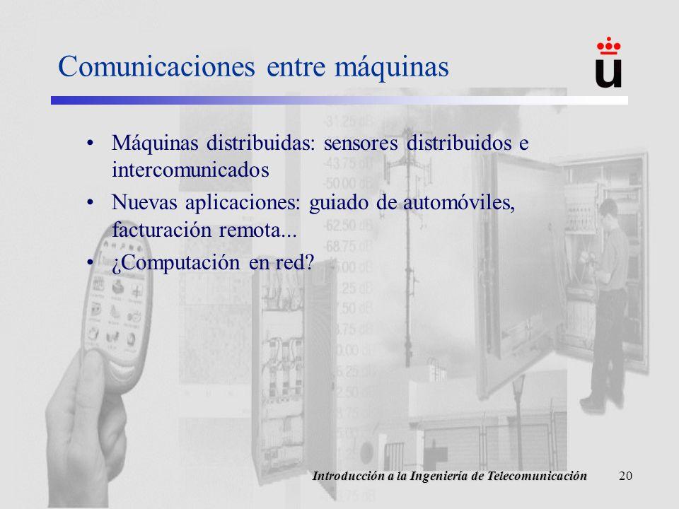 Comunicaciones entre máquinas