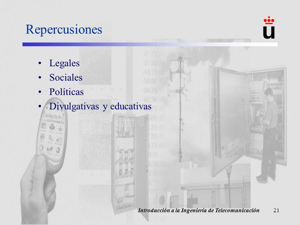 Repercusiones Legales Sociales Políticas Divulgativas y educativas