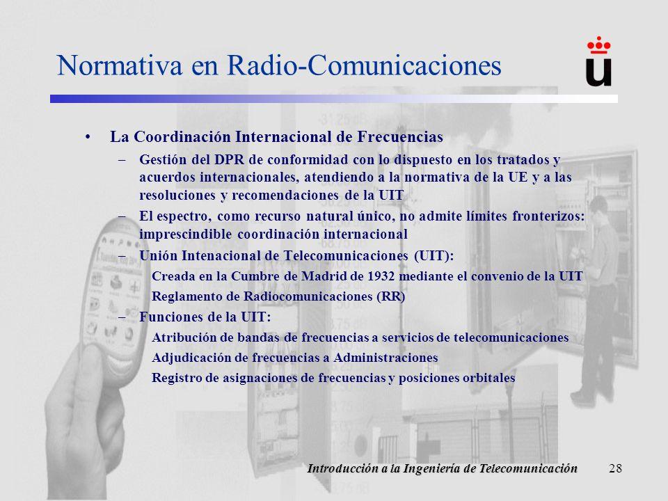 Normativa en Radio-Comunicaciones