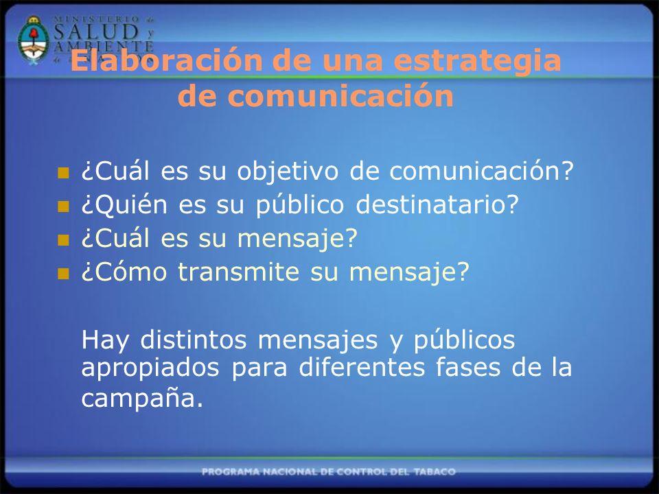 Elaboración de una estrategia de comunicación
