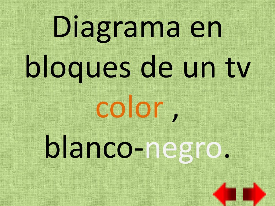 Diagrama en bloques de un tv color , blanco-negro.