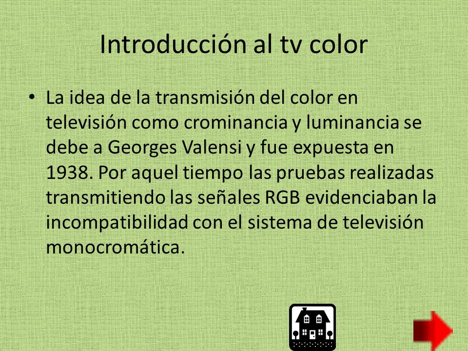 Introducción al tv color