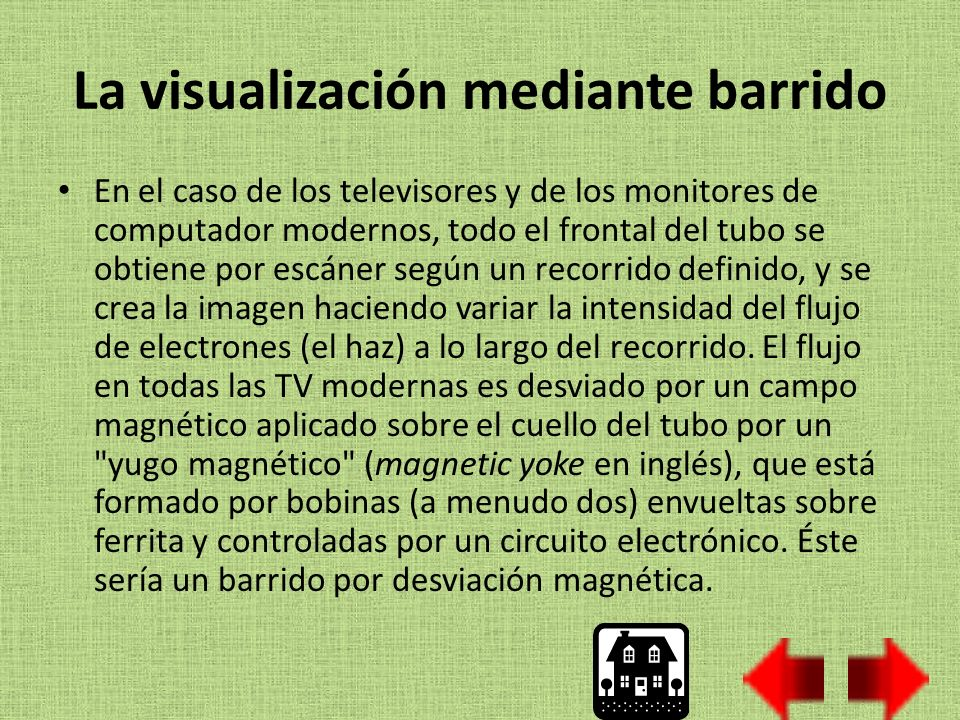 La visualización mediante barrido