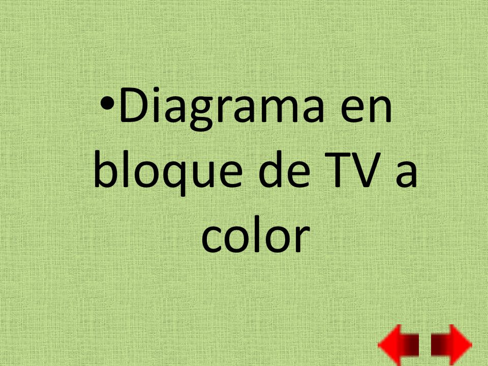 Diagrama en bloque de TV a color