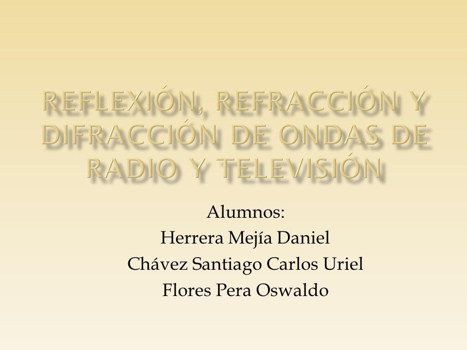 Reflexión, refracción y difracción de ondas de radio y televisión