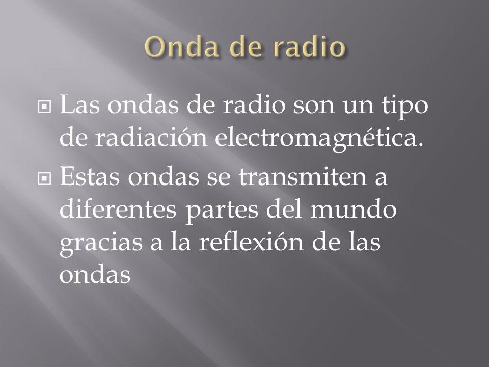 Onda de radio Las ondas de radio son un tipo de radiación electromagnética.