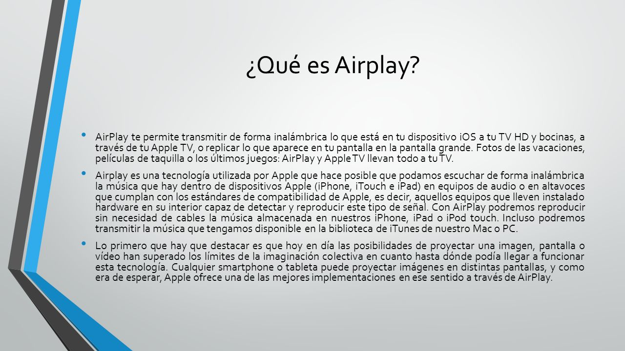 ¿Qué es Airplay