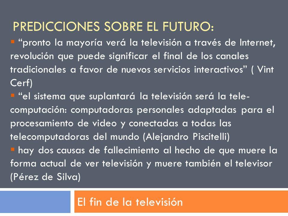 Predicciones sobre el futuro: