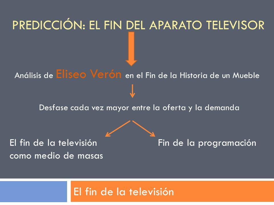 Predicción: el fin del aparato televisor