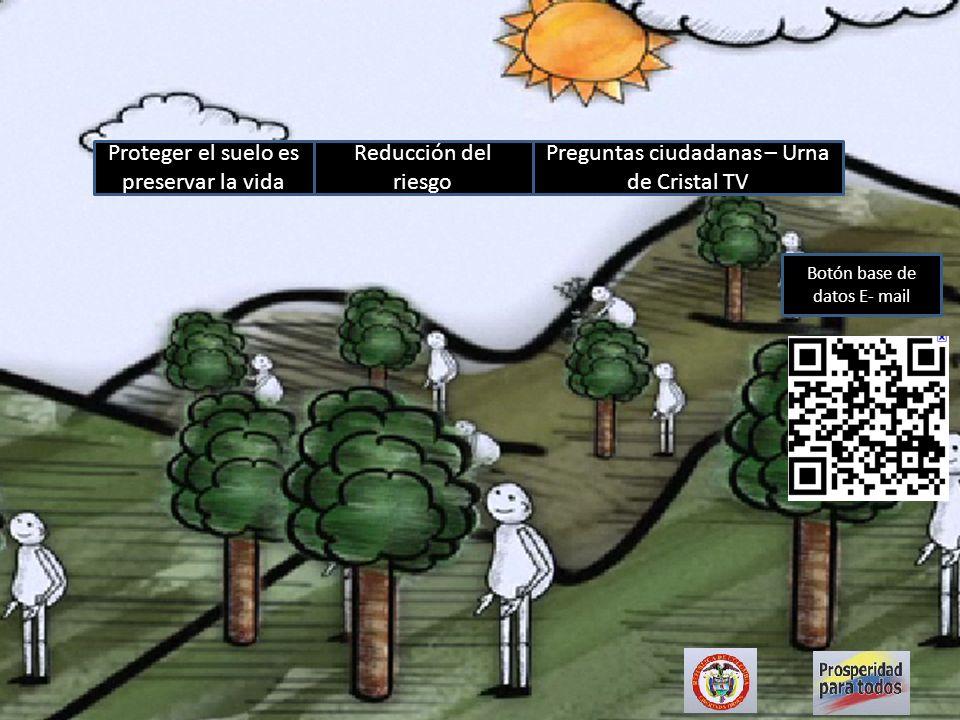 Proteger el suelo es preservar la vida Reducción del riesgo