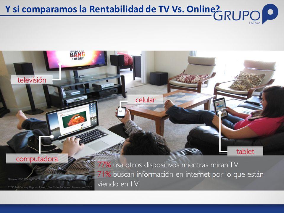 Y si comparamos la Rentabilidad de TV Vs. Online