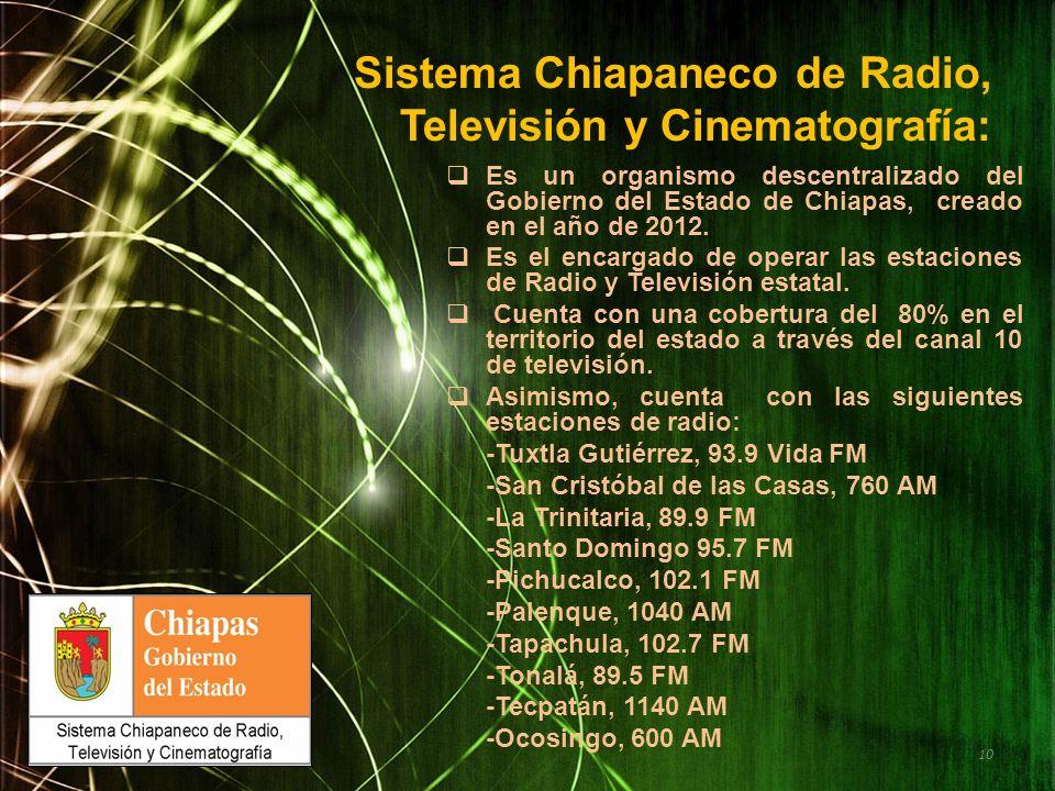Sistema Chiapaneco de Radio, Televisión y Cinematografía:
