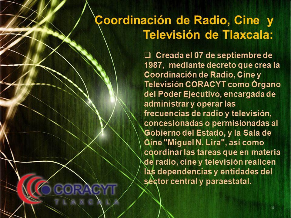 Coordinación de Radio, Cine y Televisión de Tlaxcala: