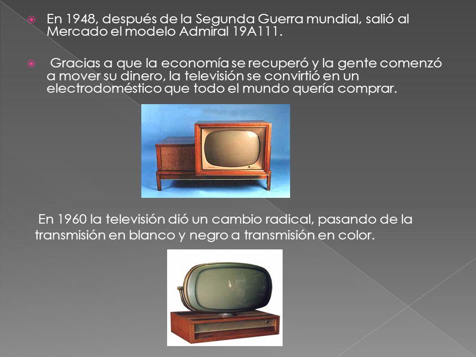 En 1948, después de la Segunda Guerra mundial, salió al Mercado el modelo Admiral 19A111.