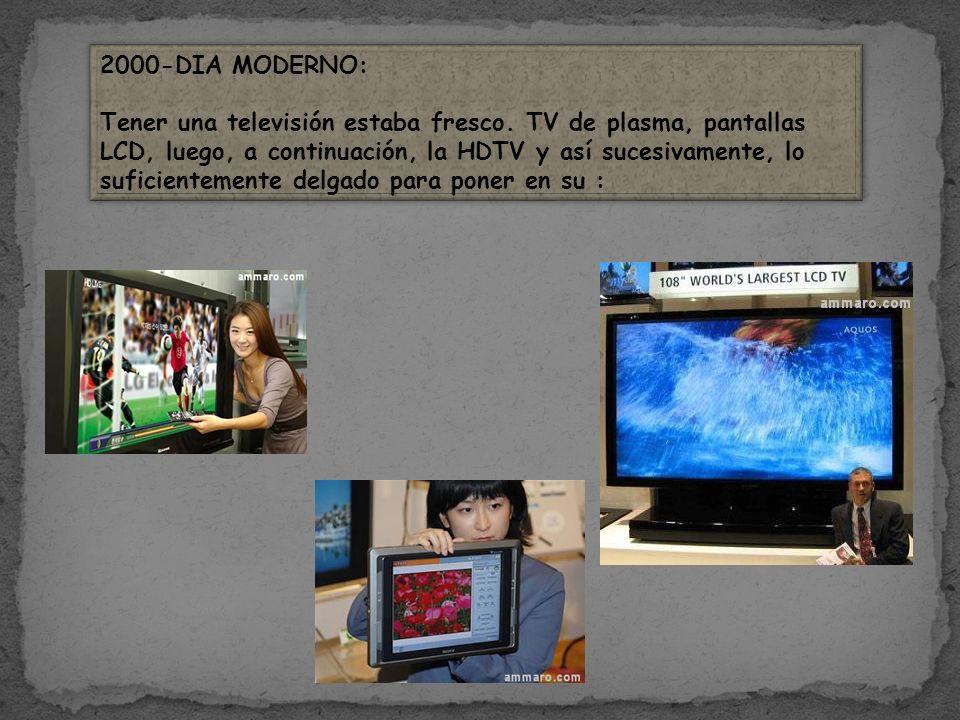 2000-DIA MODERNO: Tener una televisión estaba fresco