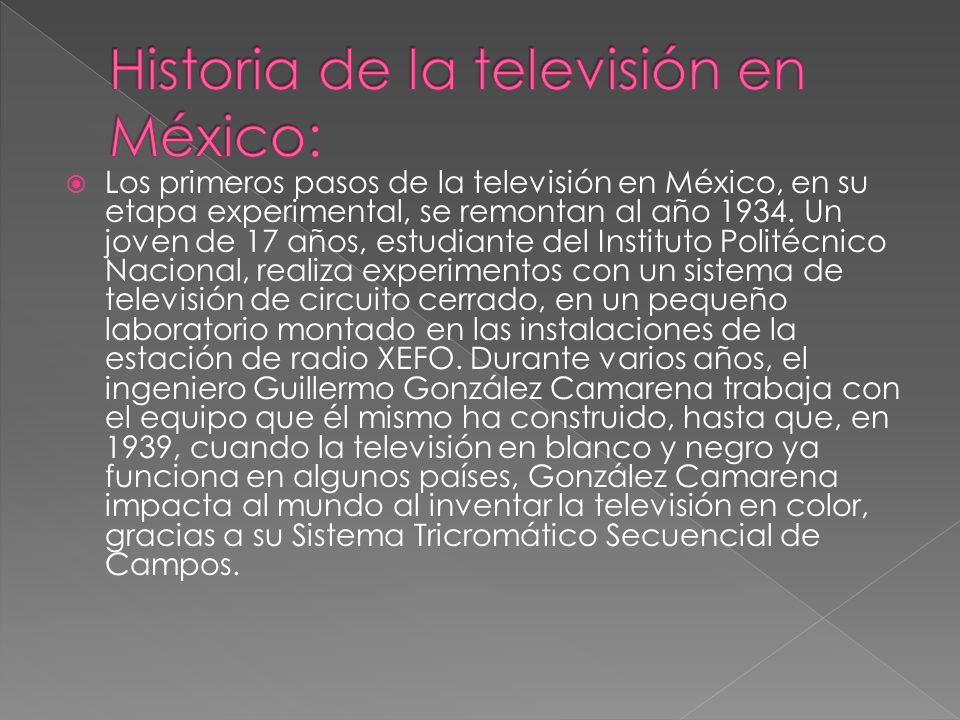 Historia de la televisión en México: