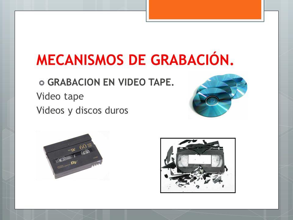 MECANISMOS DE GRABACIÓN.