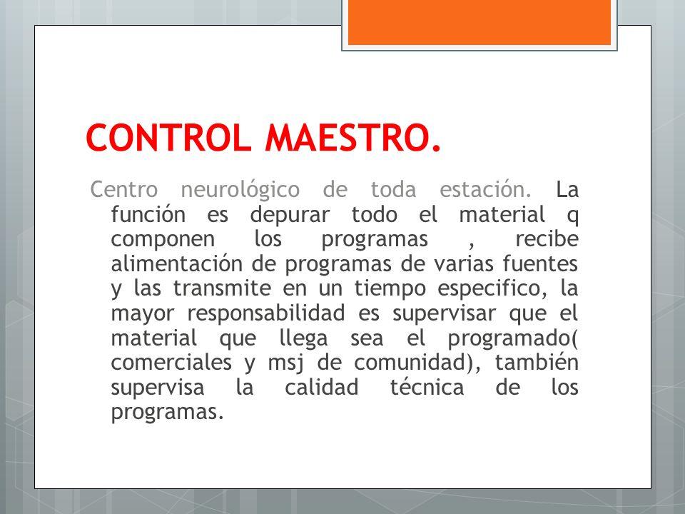 CONTROL MAESTRO.