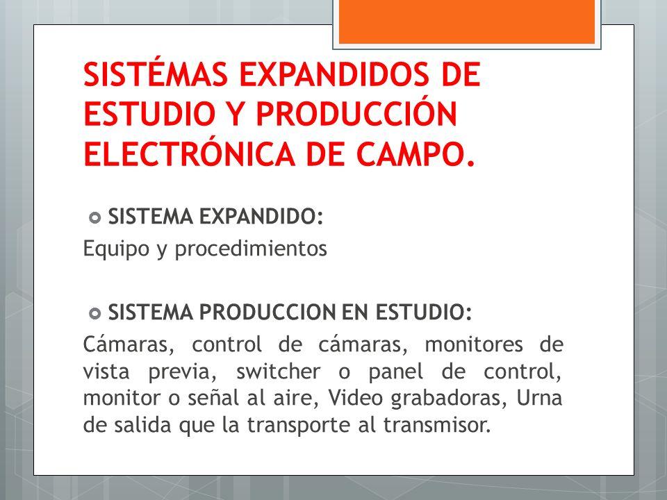 SISTÉMAS EXPANDIDOS DE ESTUDIO Y PRODUCCIÓN ELECTRÓNICA DE CAMPO.