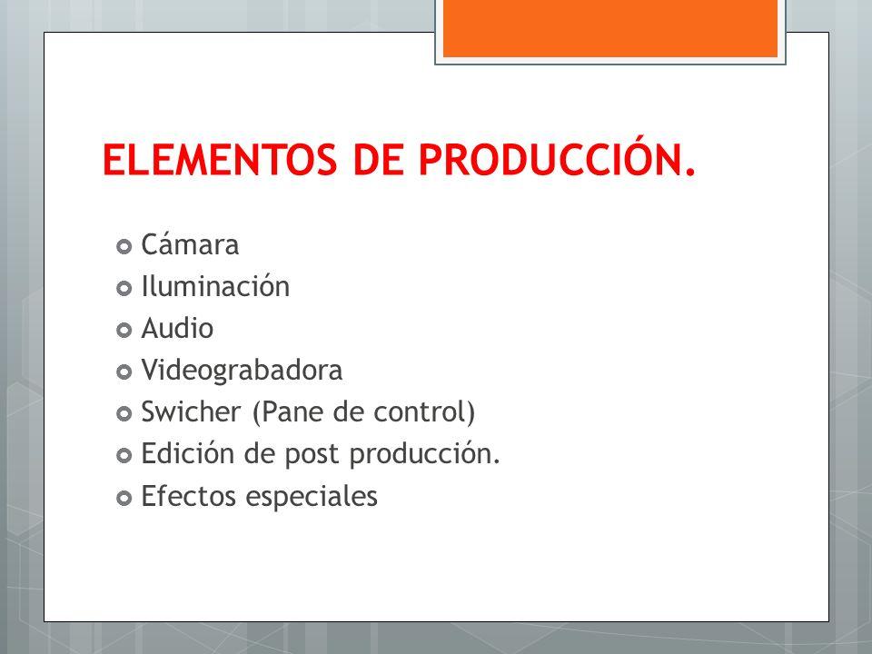 ELEMENTOS DE PRODUCCIÓN.