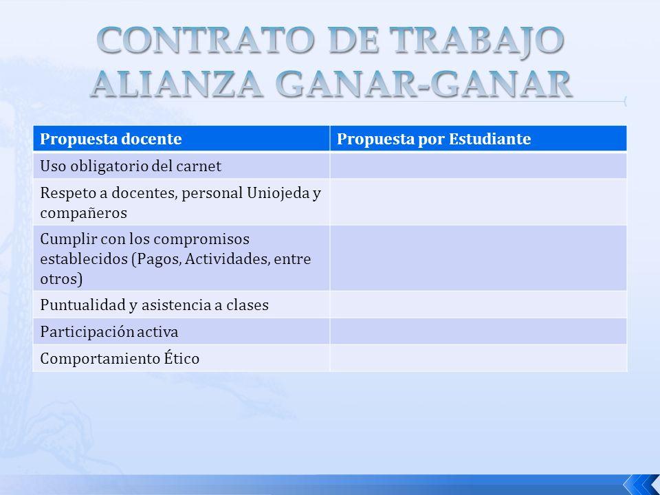 CONTRATO DE TRABAJO ALIANZA GANAR-GANAR
