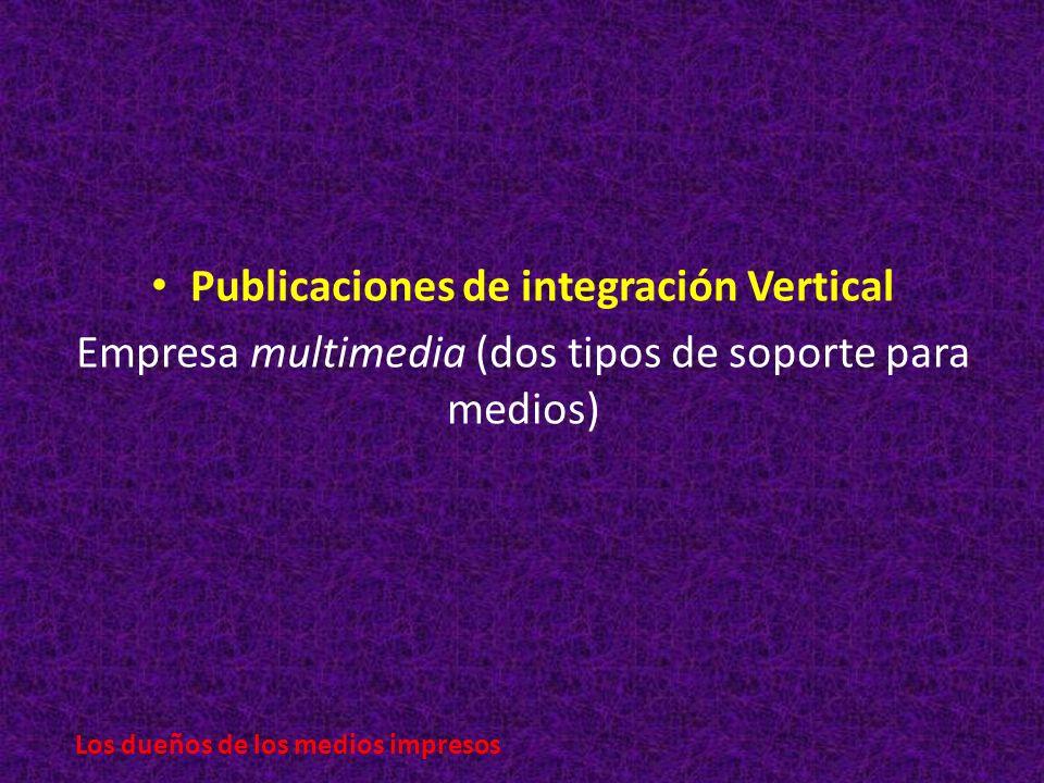 Publicaciones de integración Vertical