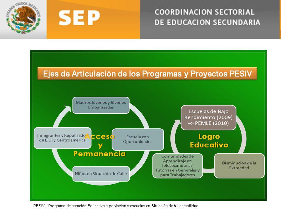 PESIV.- Programa de atención Educativa a población y escuelas en SItuación de Vulnerabilidad
