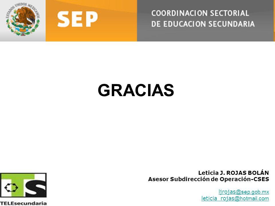 GRACIAS Leticia J. ROJAS BOLÁN Asesor Subdirección de Operación-CSES