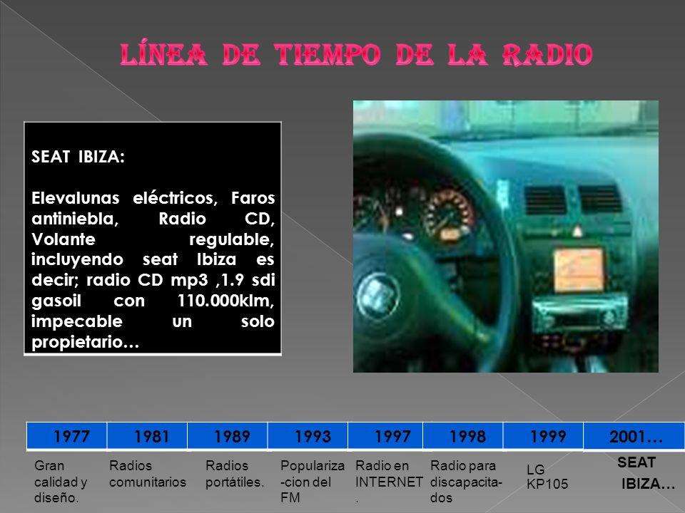 LÍNEA DE TIEMPO DE LA RADIO