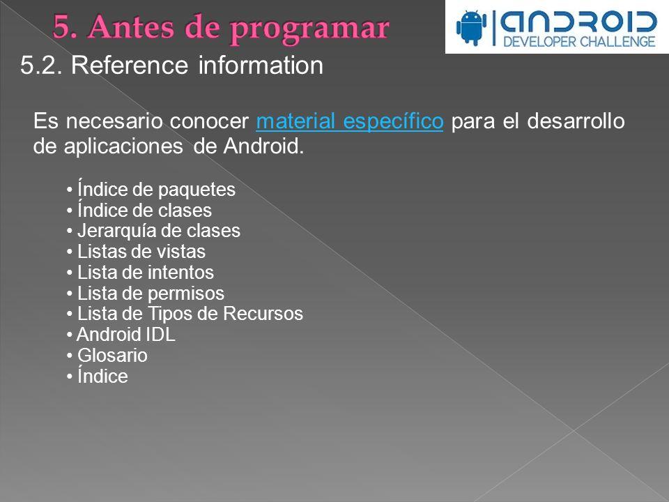 5. Antes de programar 5.2. Reference information