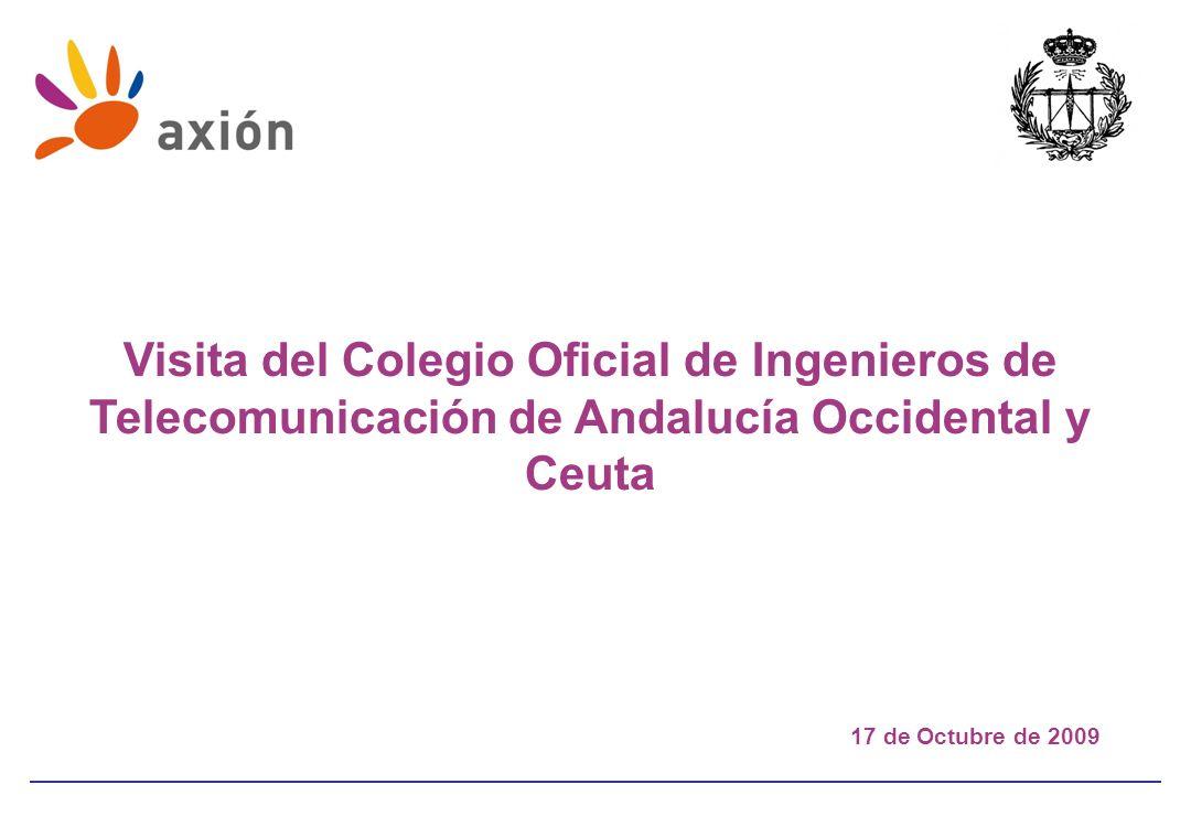 Visita del Colegio Oficial de Ingenieros de Telecomunicación de Andalucía Occidental y Ceuta