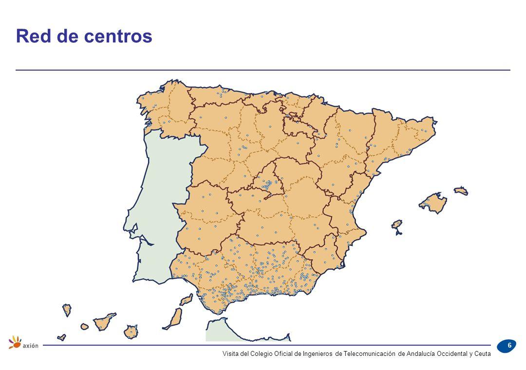 Red de centros Visita del Colegio Oficial de Ingenieros de Telecomunicación de Andalucía Occidental y Ceuta.