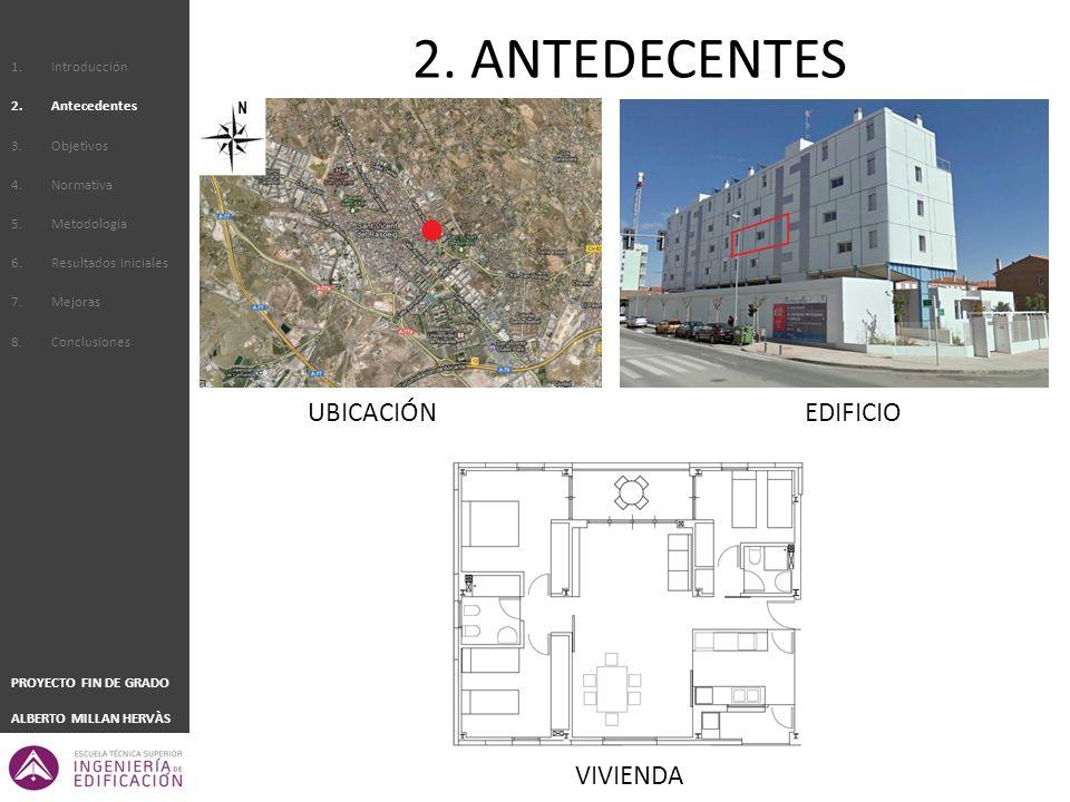 2. ANTEDECENTES UBICACIÓN EDIFICIO VIVIENDA Introducción Antecedentes