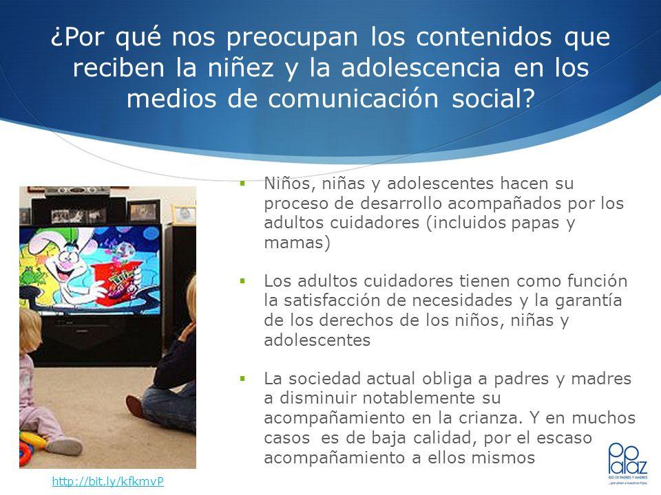 ¿Por qué nos preocupan los contenidos que reciben la niñez y la adolescencia en los medios de comunicación social