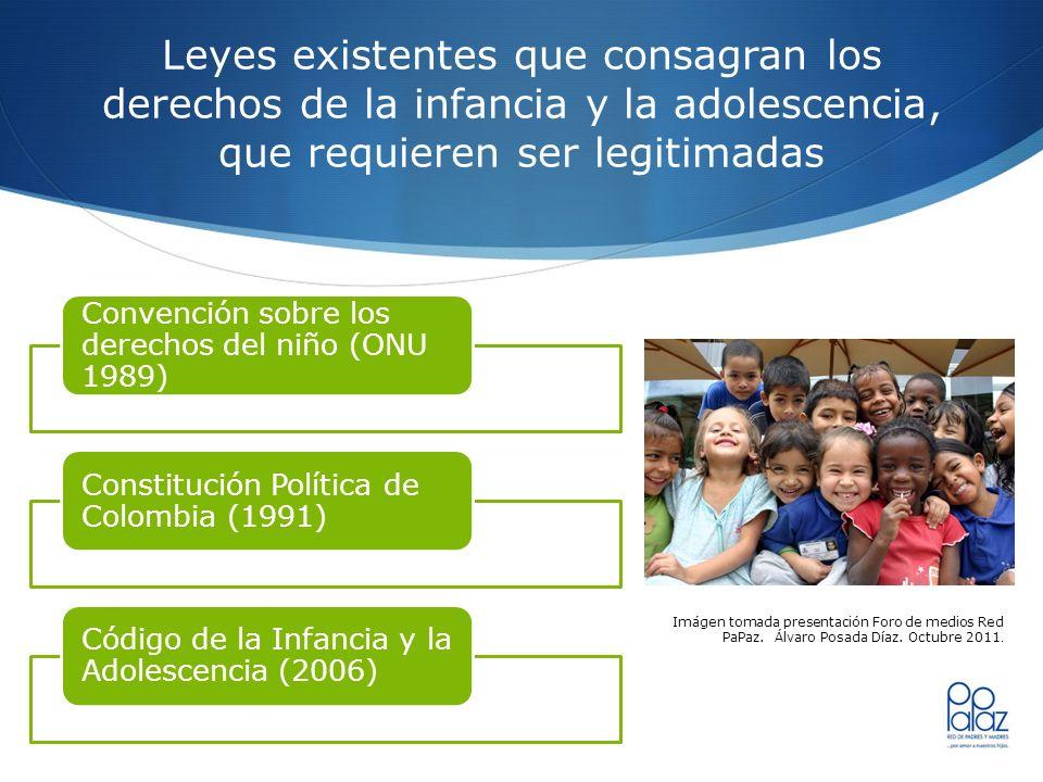 Leyes existentes que consagran los derechos de la infancia y la adolescencia, que requieren ser legitimadas