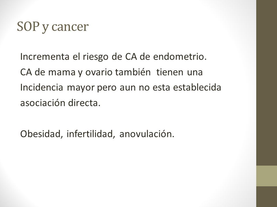SOP y cancer