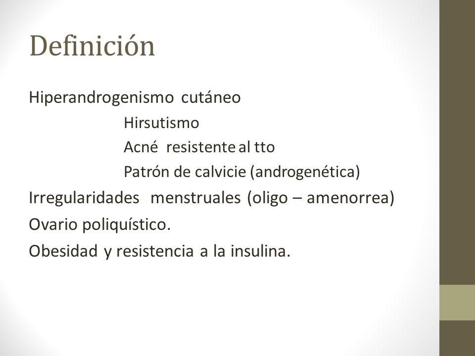 Definición Hiperandrogenismo cutáneo