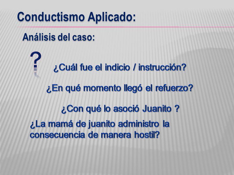Conductismo Aplicado: Análisis del caso: