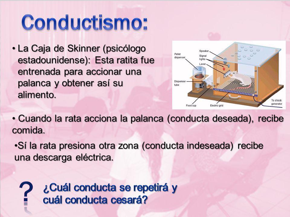 Conductismo: ¿Cuál conducta se repetirá y cuál conducta cesará