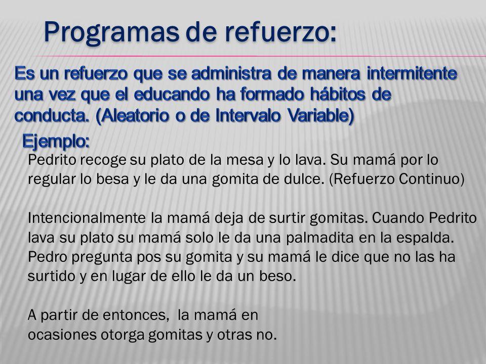 Programas de refuerzo:
