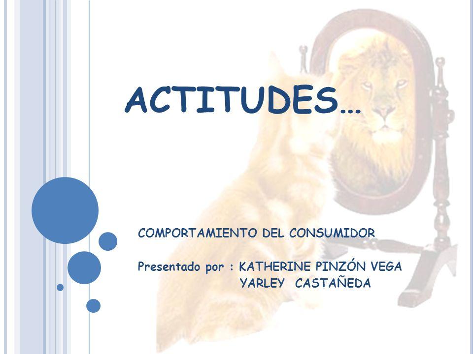 ACTITUDES… COMPORTAMIENTO DEL CONSUMIDOR