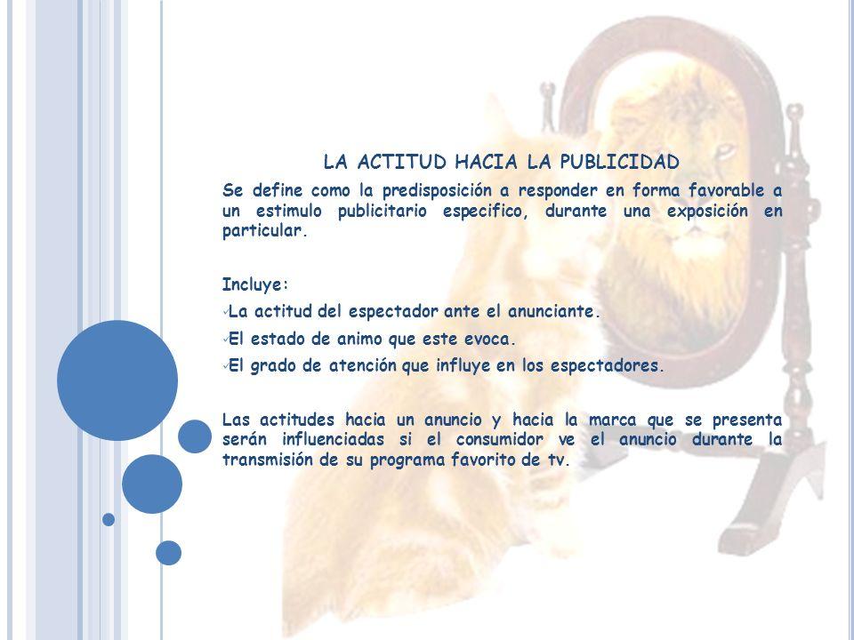 LA ACTITUD HACIA LA PUBLICIDAD
